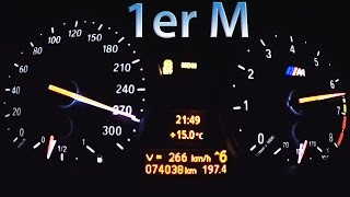 BMW 1er M Acceleration 0-270 Sound Onboard Autobahn Aulitzky Tuning Burnout Revs