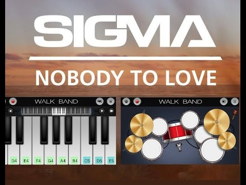 "Playing ""Sigma - Nobody To Love"" On Walk Band App"