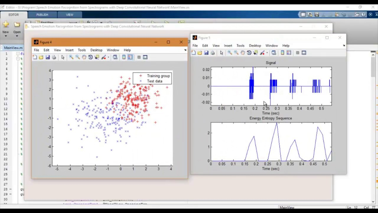 Speech Emotion Recognition from Spectrograms matlab projects