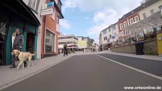 Eine Stadtfahrt duch Gerolstein von der Sarresdorferstr. und Hauptstr.