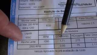 Tonella  - inspeção veicular controlar 2013 - Fusca reprovado 1/1