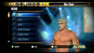 WWE All Stars CAW Ric Flair Gameplay + Formula