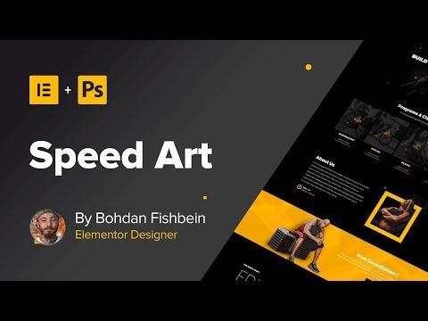 Web Design Speed Art #2 - Homepage (#Elementor, #Photoshop)