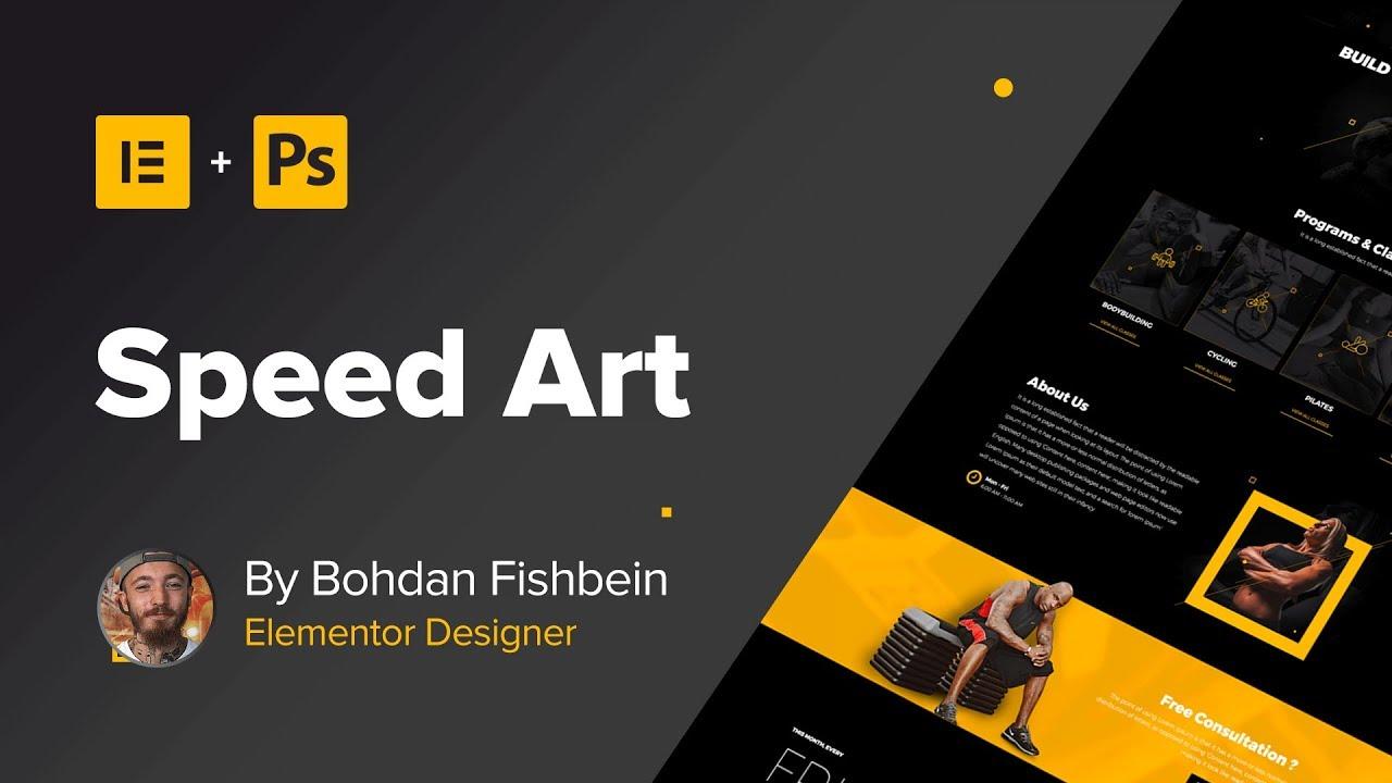 Web Design Speed Art #2 - Homepage (#Elementor, #Photoshop) - YouTube