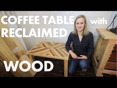 DIY Rustic Coffee Table w/ Reclaimed Wood