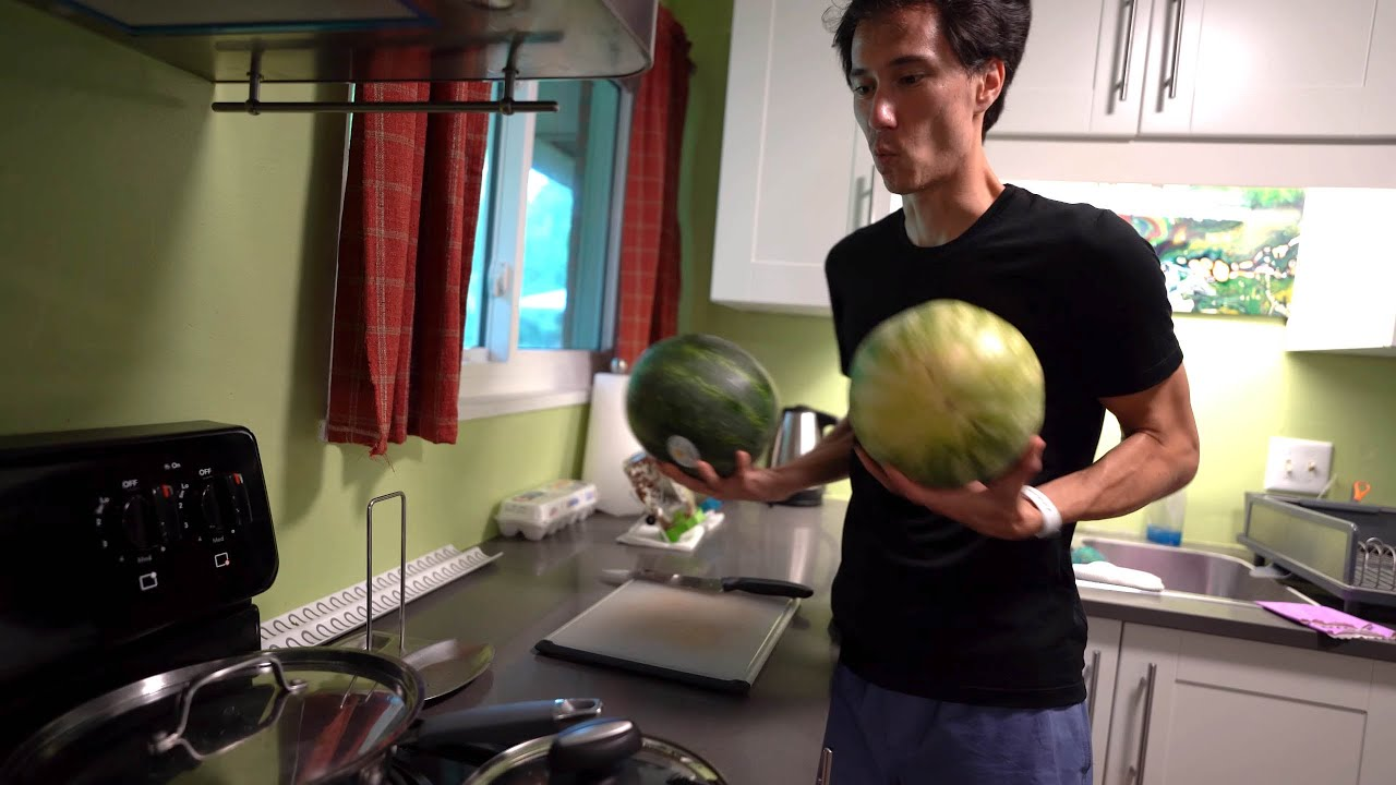 Two watermelons