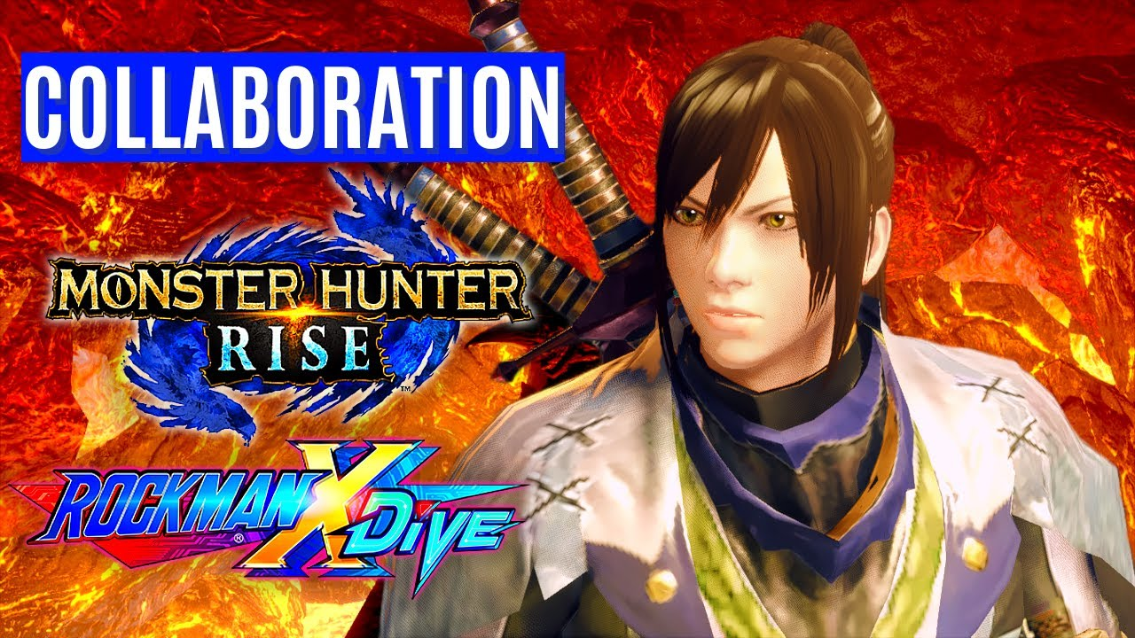 Monster Hunter Rise X Rockman x DiVE COLLABORATION GAMEPLAY TRAILER REVEAL モンスターハンターライズ X ロックマンXDiVE