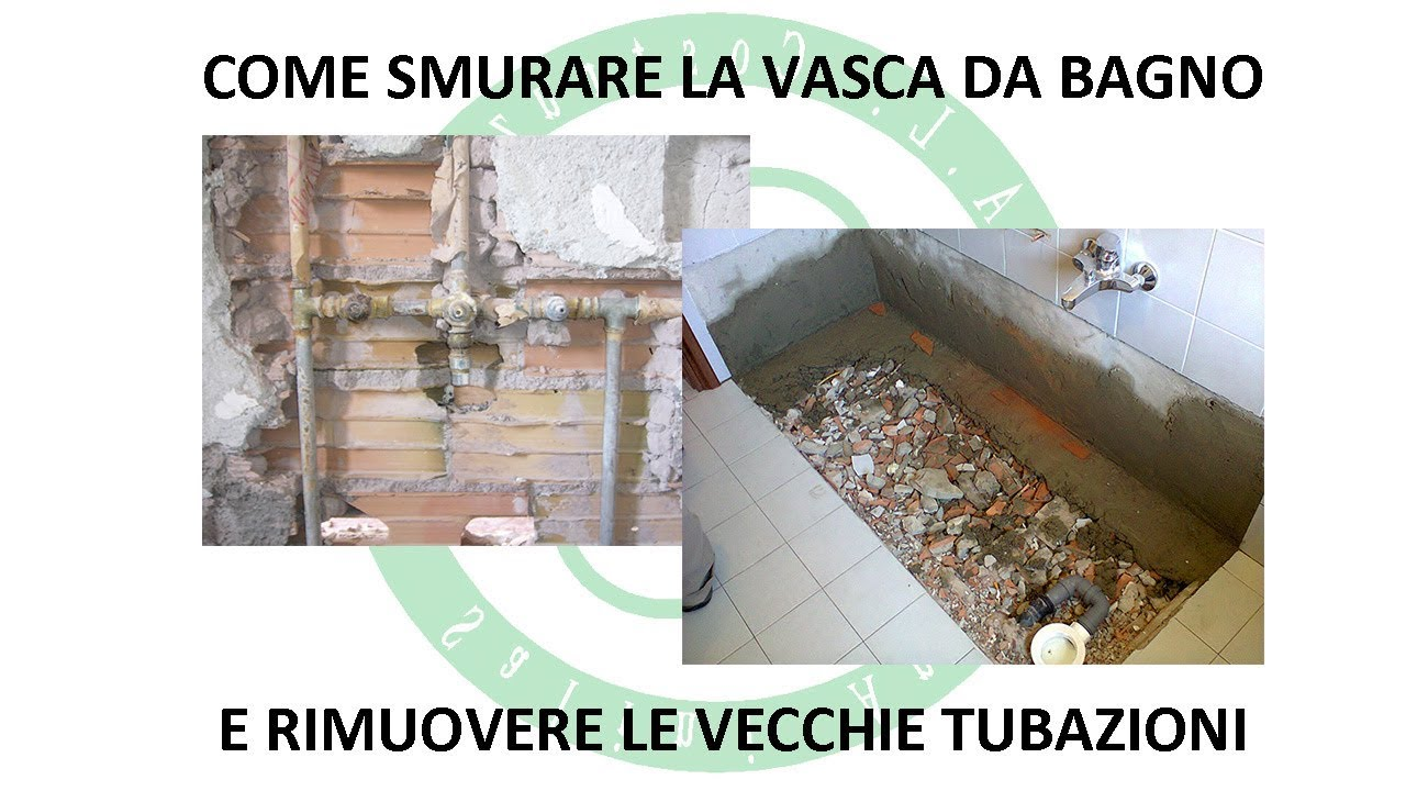 Smontaggio Vasca Da Bagno.Smurare La Vasca Da Bagno E Rimuovere Le Vecchie Tubazioni