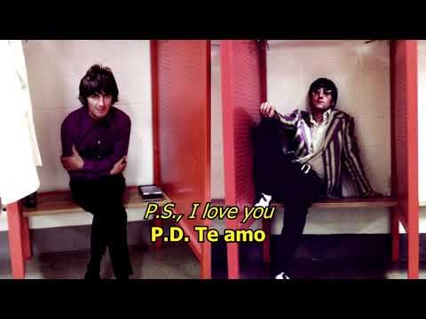 P.S I love you - The Beatles (LYRICS/LETRA) [Original]