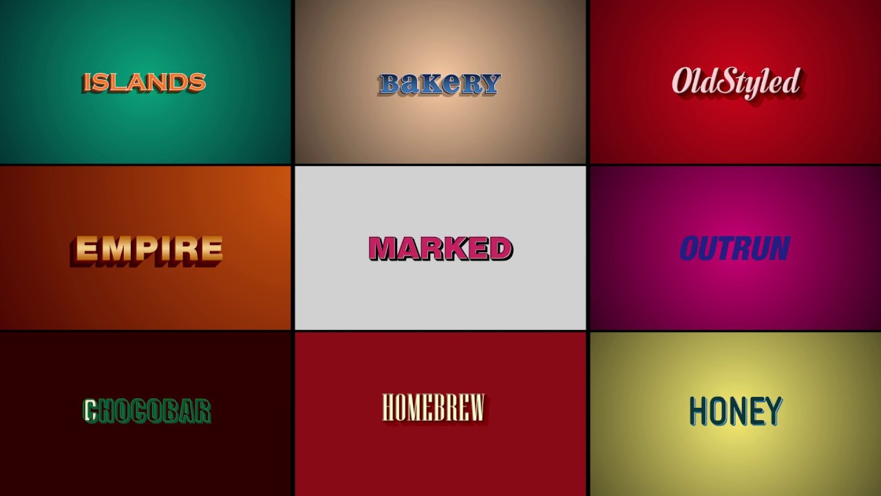 Text Effect | Retro Vintage | FREE After Effects Template