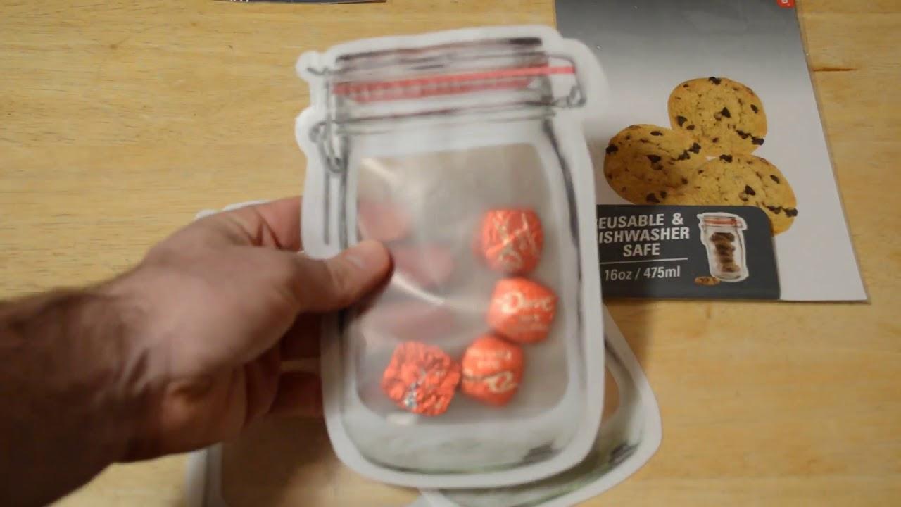 Mason Jar Zip Lock Zipper Bags Review