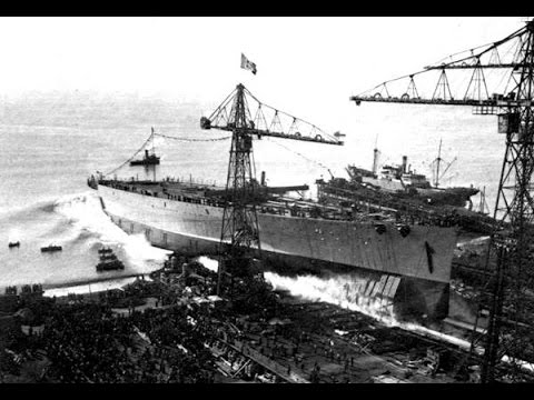 Launch of the ill fated Italian battleship Impero