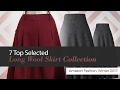 7 Top Selected Long Wool Skirt Collection Amazon Fashion, Winter 2017