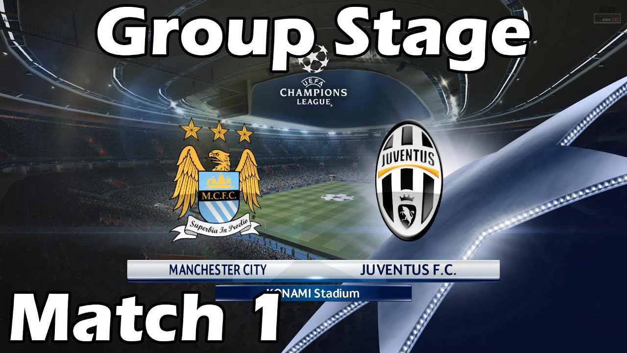 Pes 2016 Champions League With Juventus 1 Manchester City Vs Juventus Youtube