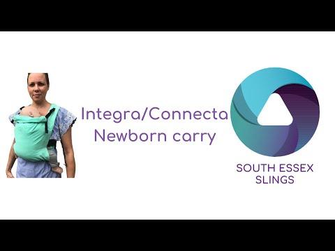Connecta/Integra carrier with a newborn