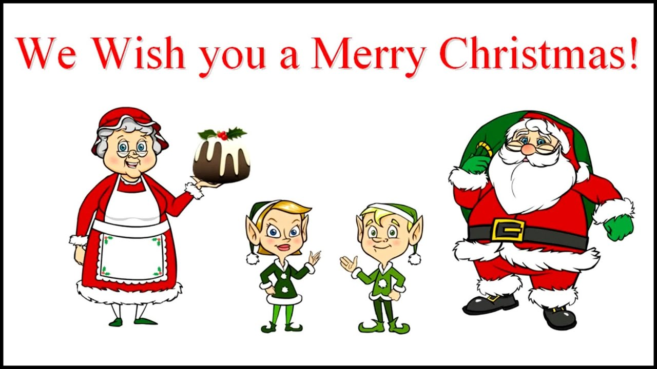 WE WISH YOU A MERRY CHRISTMAS Lyrics - YouTube