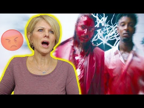 Mom REACTS to Post Malone - rockstar ft. 21 Savage