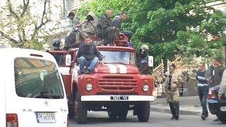 Одесса боевые действия демонстрантов  02.05.14 г. (полное видео с Греческой, часть 1)(с 16.40 02.05.14 г. оператор и журналист газеты