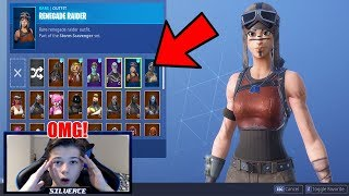 15 Year Old's INSANE fortnite Skin Locker! (Renegade raider, Ghoul Trooper)