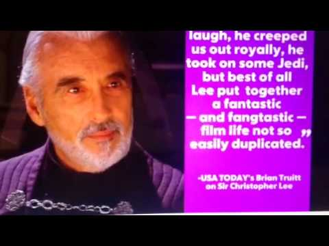 Christopher Lee RIP Horror Actor Dead At 93