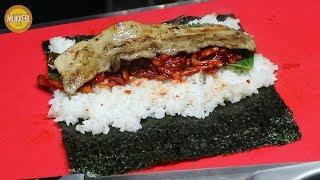 영등포 야시장 │ 삼겹살 김밥 │ Samgyeopsal Gimbap │ 한국 길거리 음식 │ Korean Street Food