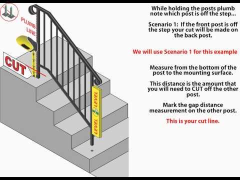 iron x handrail installation animation - YouTube