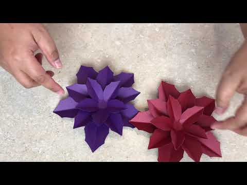 Christmas Poinsettia Assembly (DIY Handmade Paper Flower Making)