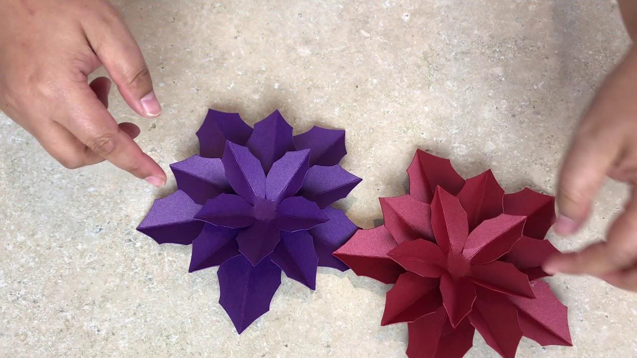 Christmas Poinsettia Assembly Diy Handmade Paper Flower Making