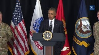 President Obama Delivers Remarks to Thank Service Members