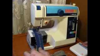 Sewing machine Швейная машина Mini Jaguar 281(2) test джинс