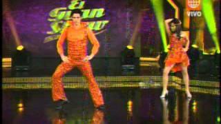 Jesus Neyra y Lucero Clavijo bailan el tema 'Disco Noche' en El Gran Show