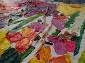 Secret Garden Artist Colourful abstract painting time lapse. Painting demo. Acrylic artist. Chakra