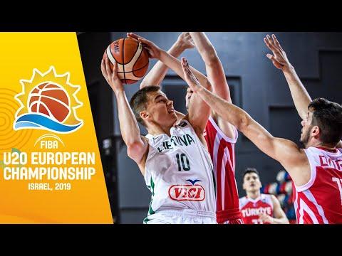 Lithuania v Turkey - Full Game - FIBA U20 European Championship 2019
