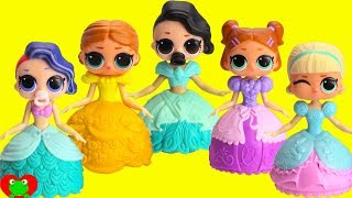 LOL Surprise Lil Sisters Transform Into Disney Princess Magical Movers