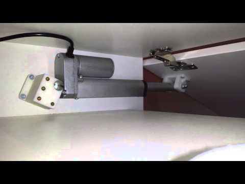 Linear actuator door opener