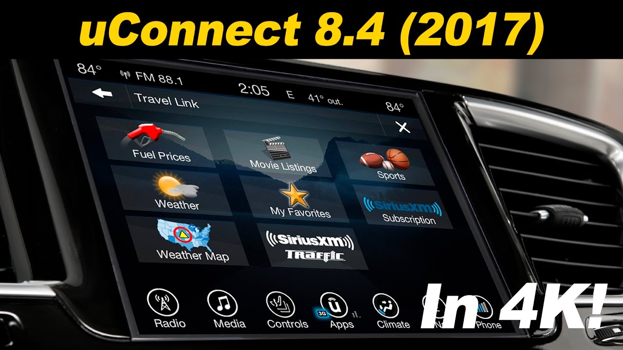 Garmin Map Update >> 2017 Chrysler uConnect 8.4 Infotainment Review - In 4K ...