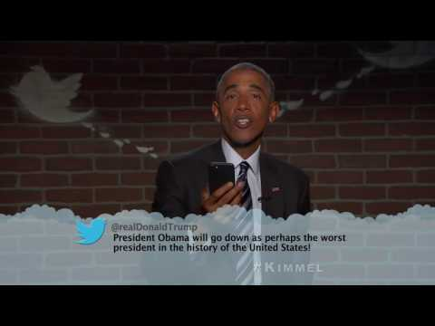 Obama Reads Trump Tweet
