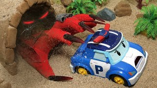 Help! A scary Witch lives in a magic cave! Solve with your Robocar Poli friends! ToyTv Movie