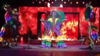 Universoul Circus 2015-Color Me Caribbean Stilt Dancers Front View HD