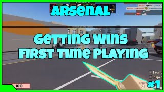 Getting Wins In Arsenal | First Few Matches Played Ever | Roblox Arsenal Lets Play With TL #1