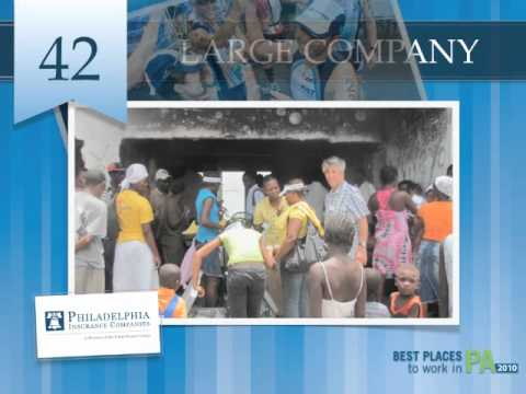 PHLY Insurance Named Best Places To Work In Pennsylvania (2010)