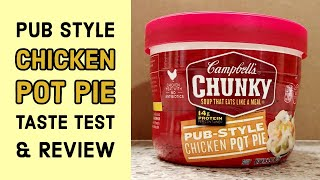 Campbell&#39s Chunky Chicken Pot Pie - Canned Food - Taste Test and Review