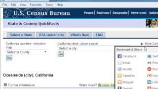 Using the Census Bureau Quick Facts Tool