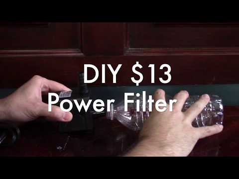 HOW TO: Build Ultimate Cheapest Aquarium Filter with power head 100% Reusable