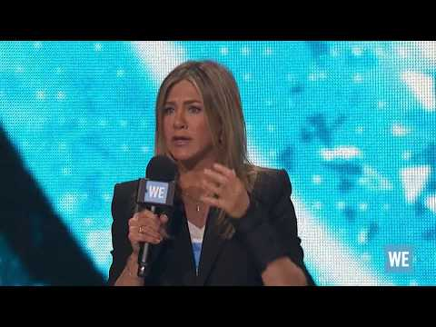Jennifer Aniston along with March For Our Lives co-founders Jaclyn Corin and Cameron Kasky