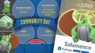 Bagon shiny Shelgon and shiny Salamence with Outrage-community day April 2019-Pokemon Go