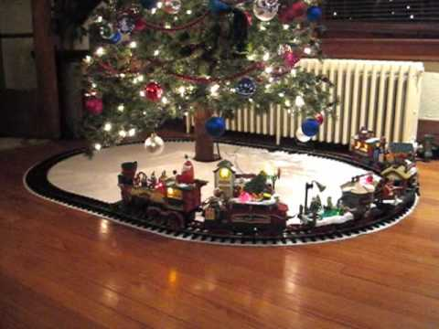 train under the christmas tree 2009 youtube - Train For Around Christmas Tree