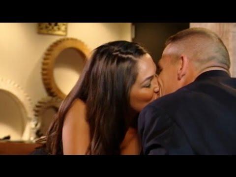 Wwe Kaitlyn And John Cena Kiss John Cena kisses his w...