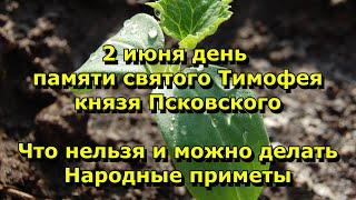 Народный праздник Тимофей Грядочник 2 июня Что нельзя делать народные приметы
