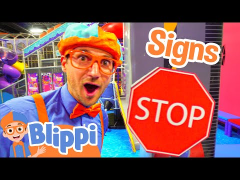 Blippi Plays at